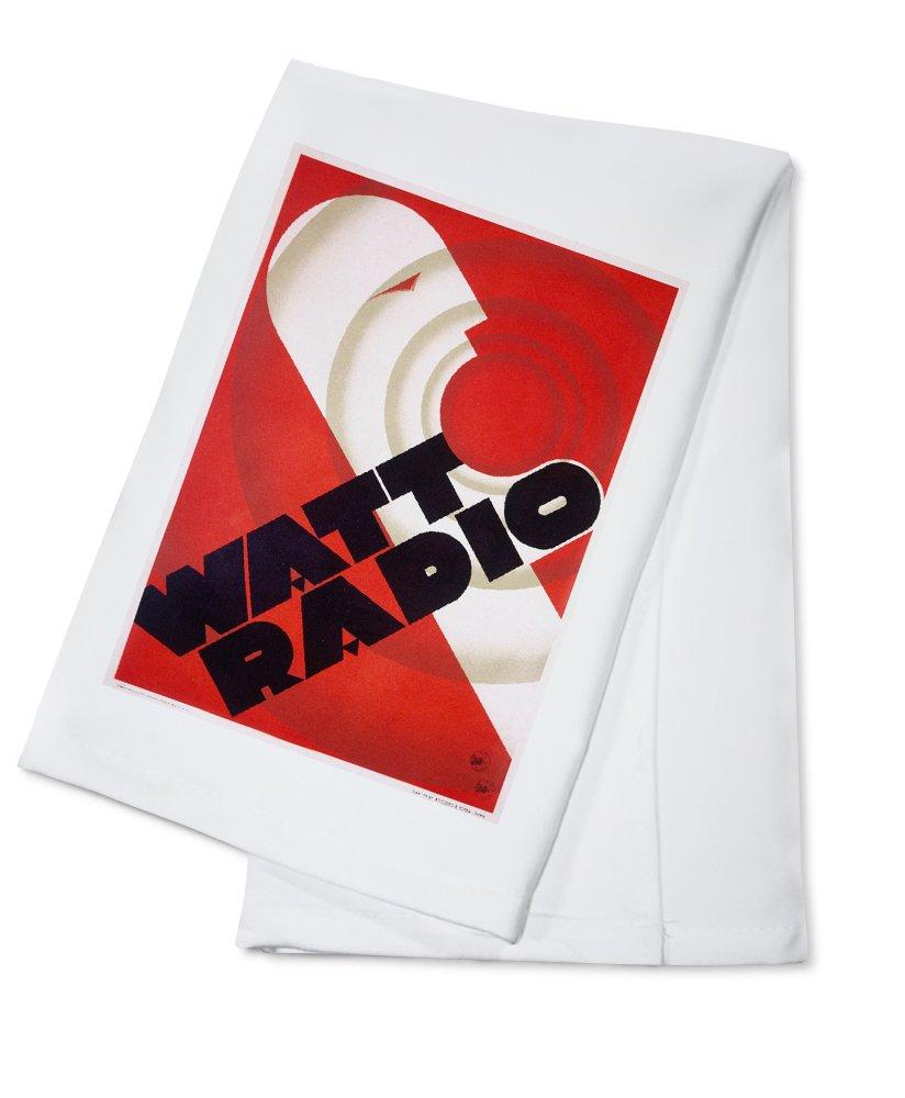 Amazon Watt Radio Vintage Poster Italy C 1933 100 Cotton