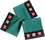 RaanPahMuang Weave Thai Burmese Refugee Fair Trade Hand Made Placemat Set, Green