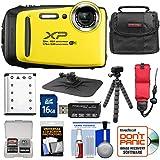 Fujifilm FinePix XP130 Shock & Waterproof Wi-Fi Digital Camera (Yellow) with 16GB Card + Battery + Cases + Tripod + Strap + Kit