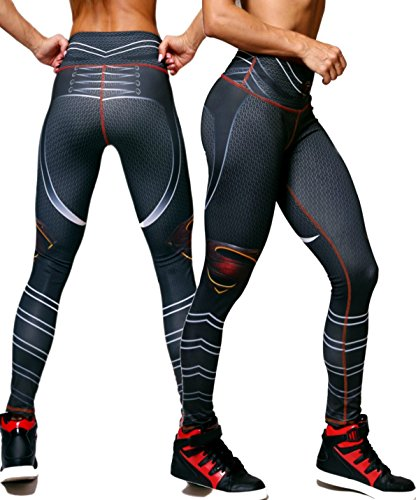 Superhero Tights (Exit 75 Superman Superhero Leggings Yoga Pants Compression Tights)