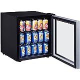 Costway 60 Can Beverage Refrigerator Portable Mini Beer Wine Soda Drink Beverage Cooler Black (60 Can)
