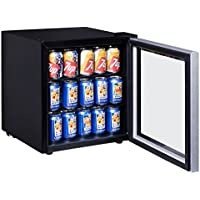 Costway 60 Can Beverage Refrigerator Portable Mini Beer Wine Soda Drink Beverage Cooler Black (60 Can)
