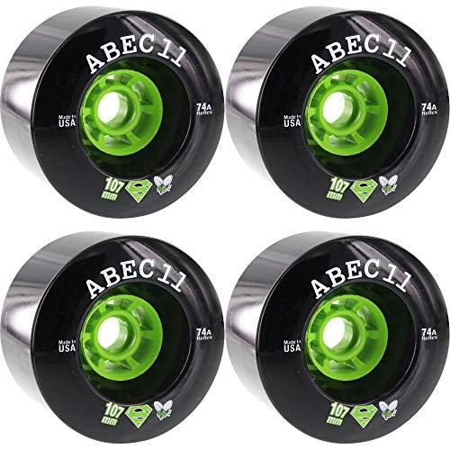Good Skateboard ABEC 11 Longboard Wheels 107Mm 74A Black