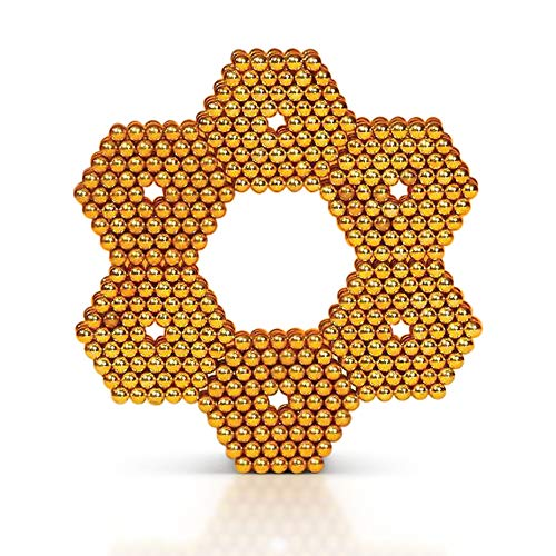 MagneBalls 5MM Magic Ball Set for Office Stress Relief |Desk Sculpture Toy Perfect for Crafts, Jewelry, Education |Fidget Cube Provides Relief for Anxiety, ADHD, Autism, Boredom (Gold) by MagneBalls (Image #7)