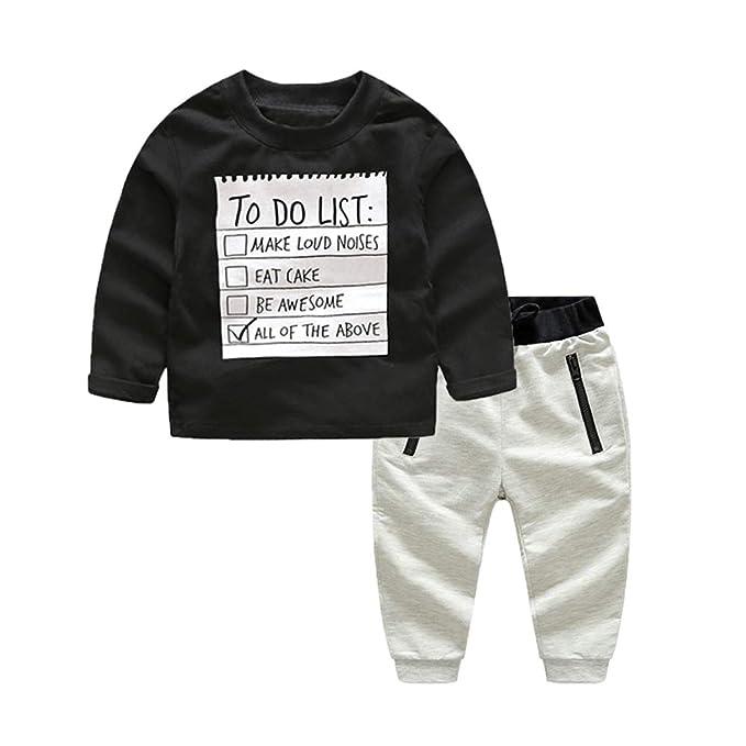 Amazon.com: Xirubaby - Blusa negra para niños + pantalones ...