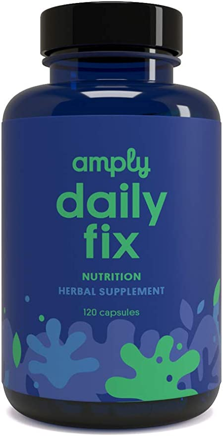 Amply Blends   Daily Fix   Herbal Supplement   Nutritional Support Capsules   120-Count
