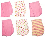 Gerber Baby-Girls Newborn 6 Pack Terry Burp Cloths