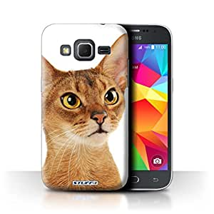 STUFF4 Phone Case / Cover for Samsung Galaxy Core Prime / Abyssinian Design / Cat Breeds Collection