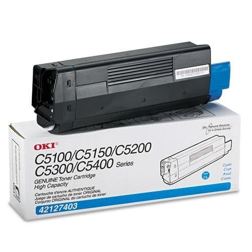 Okidata 42127403 High-Yield Toner (Type C6), 5000 Page-Yield, (42127403 Laser)