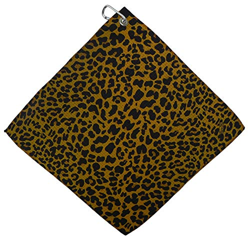 (BeeJo's Leopard Microfiber Golf Towel Golf Accessories Gift)