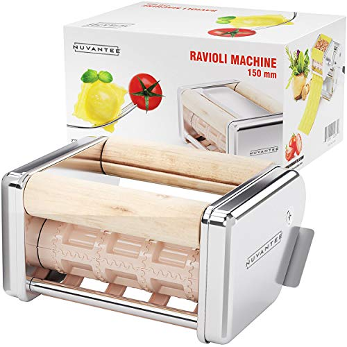 - Nuvantee Ravioli Maker Attachment - 150 mm Detachable Ravioli Cutter - Works With Innovee Pasta Maker & Other Brands - Stainless Steel Ravioli Machine