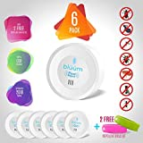 Bluum Ultrasonic Pest Repeller Plug in - [6PACK] - 2019 Upgraded + Free [2 Pack] Mosquito Repellent Bracelet | Anti Mice, Insects, Bug, Ants, Mosquitos, Rats, Spiders, Roaches - Child & Pet Safe