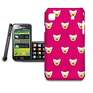 Phone Case For Samsung Galaxy S i9008 - Hot Pink Polar Bears Geometric Glossy Lightweight