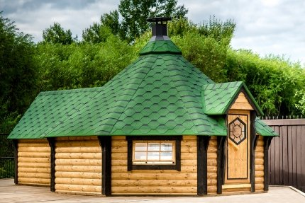 junit gkf16501es 16, 5 M2 Barbacoa Kota con sauna Cultivo de para 16 personas: Amazon.es: Jardín