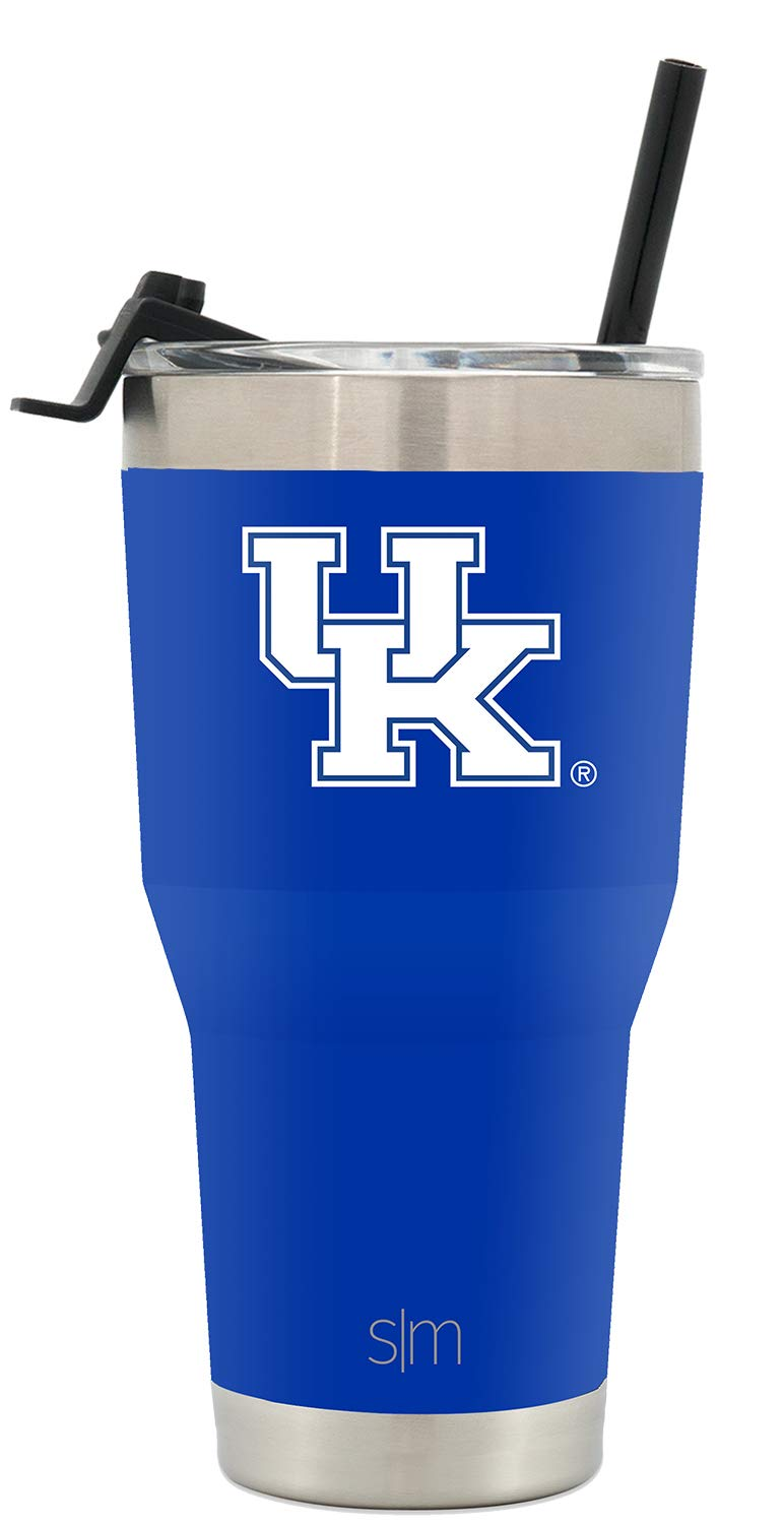 Simple Modern University of Kentucky 30oz Cruiser Tumbler with Straw & Flip Lid - Vacuum Insulated Stainless Steel Travel Mug - Tailgating Hydro Cup College Flask