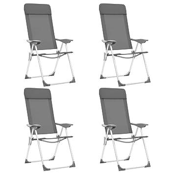 vidaXL Sillas de Camping Plegables Aluminio Senderismo y ...