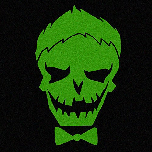 Green Joker Skull Car Decal Sticker (cars, laptops, windows) - (Suicide Squad Inspired)