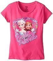 Disney Girls' Frozen Anna and Elsa T-Shi...