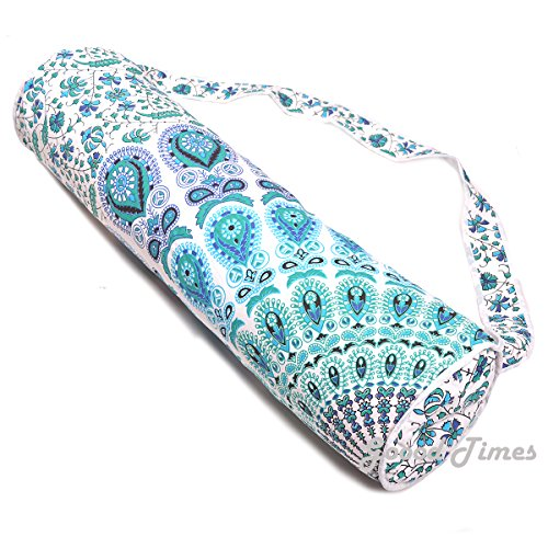 Goood Times Handmade Mandala Cotton Yoga Mat Bag with Shoulder Strap