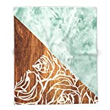 Society6 Wood + Geometric Pattern 88'' x 104'' Blanket