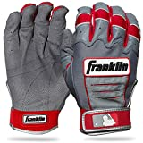 Franklin Sports MLB Youth CFX Pro Batting Glove, Pair, Medium, Grey/Red