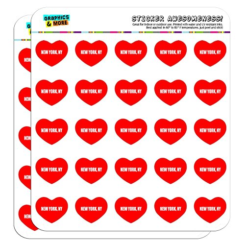 Graphics and More I Love Heart New York NY Planner Calendar Scrapbooking Crafting Stickers - 50 1