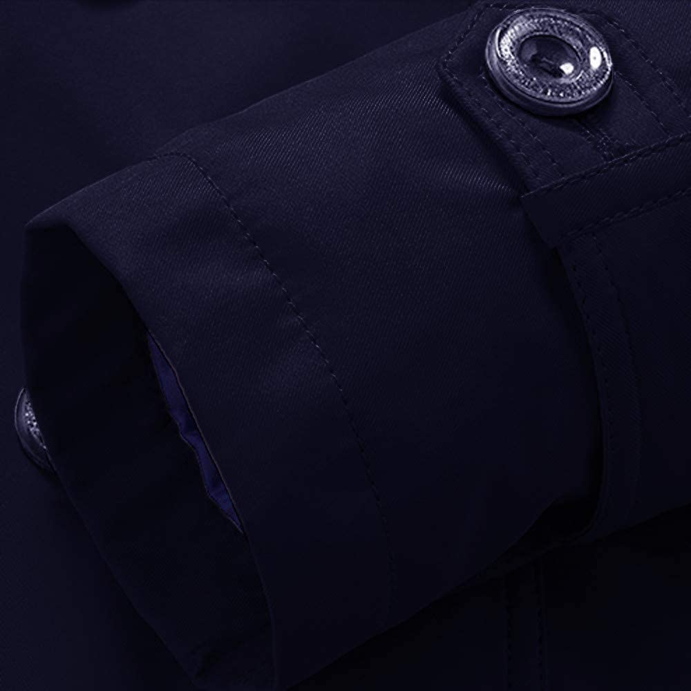NEEKY Giacca Leggera da Uomo Invernale Leggera Soprabito Cappotto Intima Lunga da Donna con Bottoni Lunghi Blu