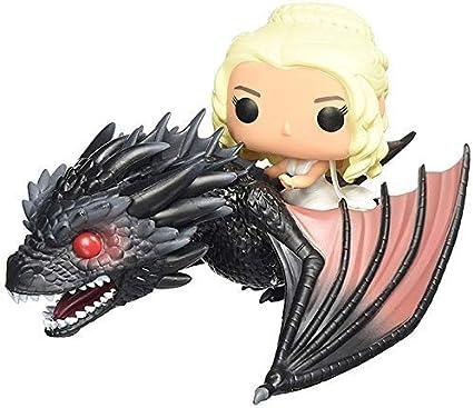 Una Canción de Hielo y Fuego Modelo de Juguetes - Juego de Tronos Daenerys Targaryen Dragón Madre Montando Dragón Modelo de Juguetes a Mano - Colección de Regalos de Cumpleaños Marvel for