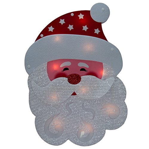 Lighted Holiday Santa Claus Or Snowman Winter Wall/Window Ha