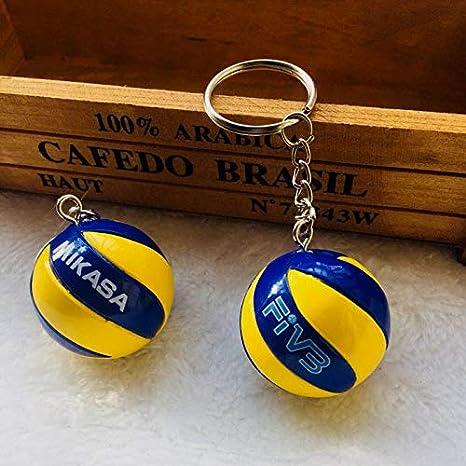 VAWAA Deporte Playa Voleibol PVC Llavero Llaveros Cadena Anillo De Fútbol Playa Bola Clave Anillo Regalos Hombres Joyería Llaveros Keyring: Amazon.es: Juguetes y juegos