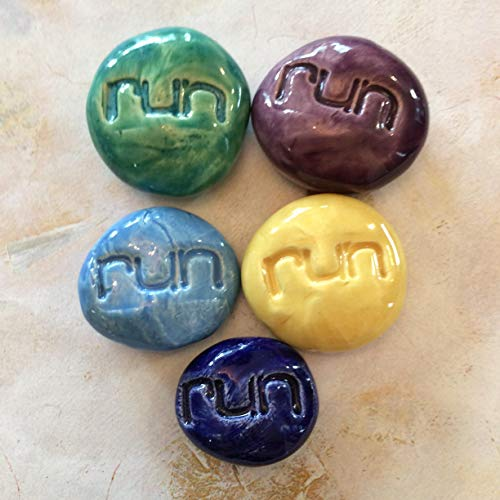 RUN Pocket Stones - Assorted Colors - Inspirational Art Pieces by Inner Art Peace