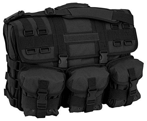 Code Alpha Tactical Gear Computer Messenger Bag, Black, 17 1/2in.x12 1/4in.x6in.