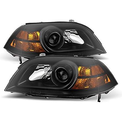 amazon com acura mdx crystal headlights black housing with clear rh amazon com 2004 Acura MDX Headlight Assembly 2004 Acura MDX Headlight Bulb