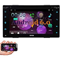 EinCar Android 6.0 Marshmallow 6.2 Double Din Car DVD GPS Navigation Player In Dash Bluetooth Car Stereo Touchscreen AM/FM Radio Support WiFi OBD2 Mirrorlink Steering Wheel Control