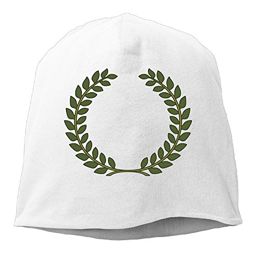 Textured Laurel Wreath Beanies Caps Skull Hats Unisex Soft Cotton Warm Hedging Cap,One Size