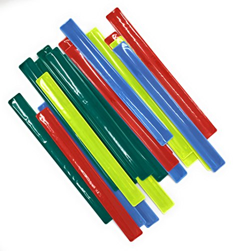 Slap Bracelet Party Favors (24 Pack) - Best For Birthday Gift Bags, Prizes and Stocking Stuffers - Large Sized and Durable Slap Bracelets - Reflective, Vibrant and Neon Colors - For Boys and Girls.