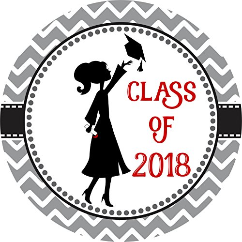 Class of 2018 Graduation Sticker Labels - Graduate Envelope Seal Card and Party Favors - Set of 30 (Graduate Seals)