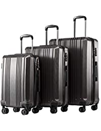 Luggage Expandable Suitcase PC+ABS 3 Piece Set with TSA Lock Spinner 20in24in28in