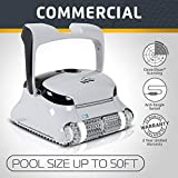 DOLPHIN C3 Commercial Robotic Pool Cleaner with Fine and Ultra-Fine Top Load Cartridge Filters and Caddy, Ideal for Commercial Pools up to 50 Feet.