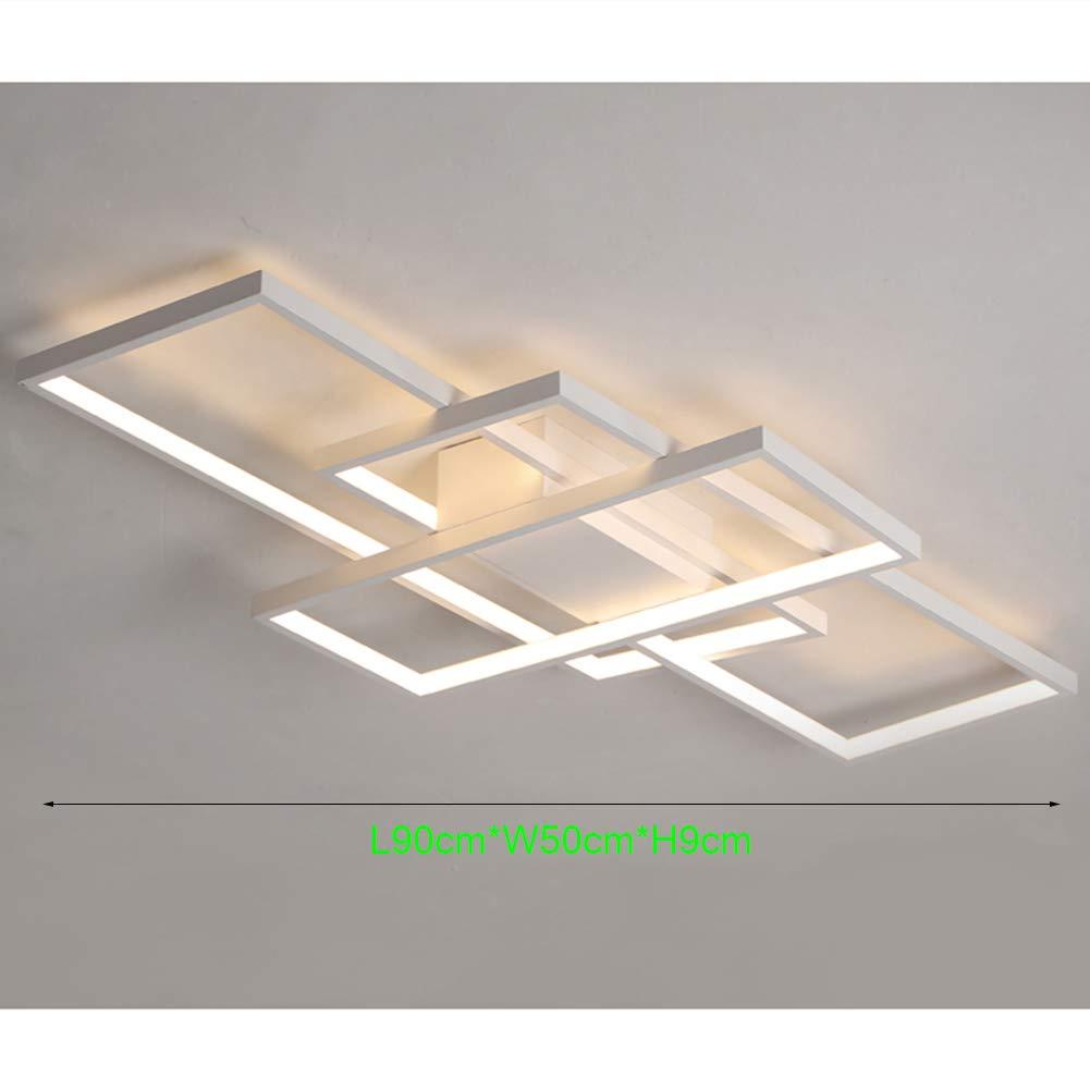 LED Wohnzimmerlampe Deckenleuchte Dimmbar 3000K-6500K Acryl-Schirm Fernbedienung Lichtfarbe//Helligkeit Einstellbar Deckenlampe Moderne Chic Designer-Lampe f/ür Esszimmer Schlafzimmer K/üche Flur Lampe