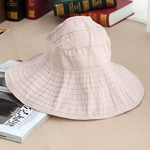 GAOQIANGFENG The summer sun hat folding large empty hat brim beach cap leisure UV sun hat,Adult money (55-58cm),light (Croc Flap)
