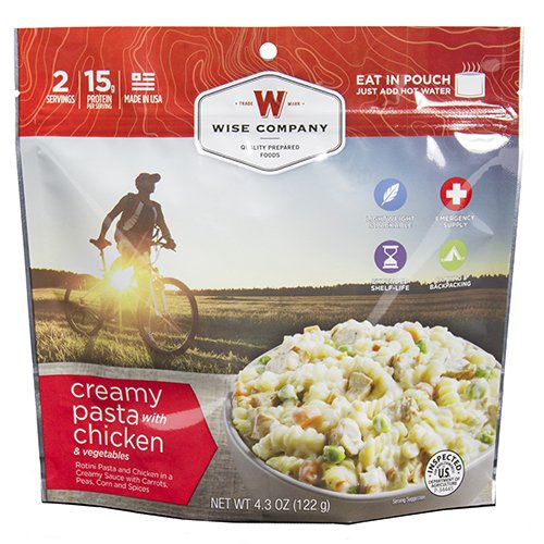 Wise Foods Entrée Dish Creamy Pasta and Vegetables with Chicken