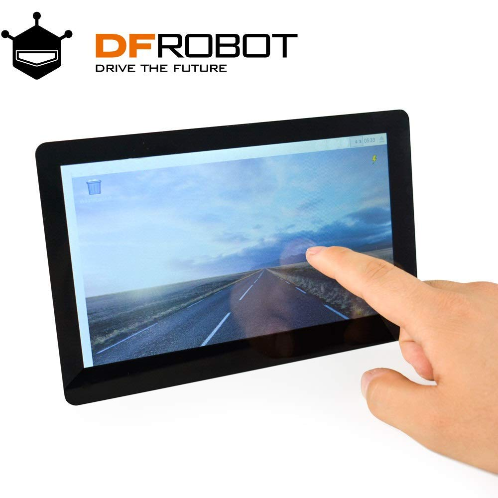 DFRobot 7 inch HDMI Display with Capacitive Touchscreen - 1024x600 - Supports Windows Linux and MAC OS - for Lattepanda Raspberry Pi and Other HDMI Device