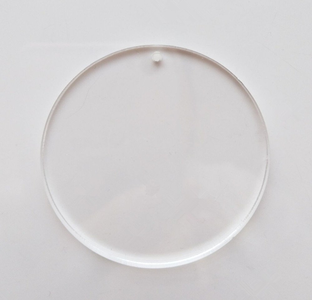 MEYA Set of 15pcs High Clear Blank Acrylic Discs ,Acrylic Round Sheet With Hole 1/8'' For Keychains, Jewelry DIY Crafts (Dia 2.0'')