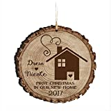 Personalized Our First New Home Christmas Holiday Gift Ornament 2017 Custom Housewarming gift ideas for couple him her by DaySpring International (First Christmas in our Home)