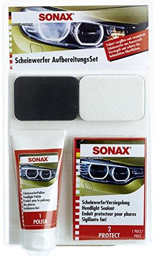 SONAX 04059410 Scheinwerfer Aufbereitungsset, 89 ml