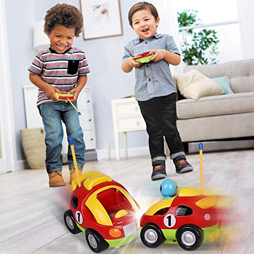 DeeXop RC Cartoon Race Car with Action Figure Radio Control Toy with Music for Toddlers Kids (CR12)