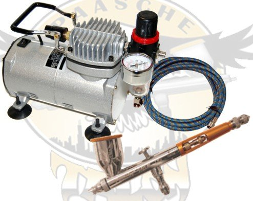 Paasche TG#2L Double Action Gravity Feed Airbrush with TC-20 Compressor and Hose by Paasche