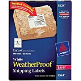 Avery 5524 Weatherproof laser shipping labels, 3-1/3 x 4, 300/pack