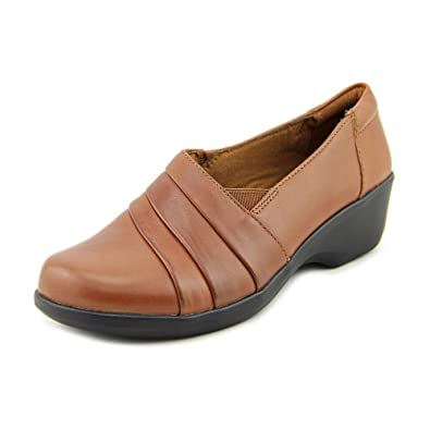 Clarks 8 M Womens Black Leather Slip-on Heeled Comfort Clogs Online Discount Women's Shoes Clothing, Shoes & Accessories